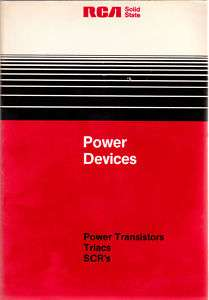 RCA Power Devices, Power Transistors, Triacs, SCRs