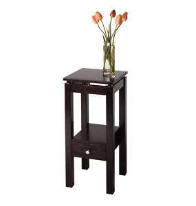 Modern Side Table Telephone Stand Dark Espresso