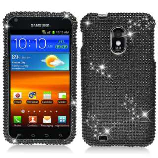 Samsung Epic 4G Touch Galaxy S II 2 Sprint Black Bling Hard Case Cover