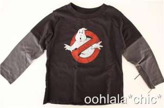 Baby Boys Black Gray GHOSTBUSTERS Ghost Busters Movie Long Sleeved