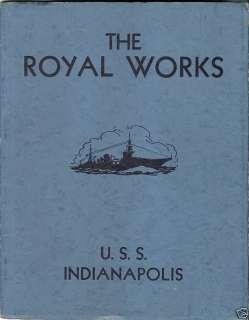 USS INDIANAPOLIS 1933 shakedown cruise book ROYAL WORKS