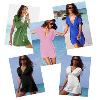 Women Lady Sexy Swimwear Nylon Bikini Cover Up Shirt Dress S13
