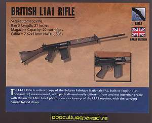 BRITISH L1A1 RIFLE Semi Auto Atlas Classic Firearms Gun CARD