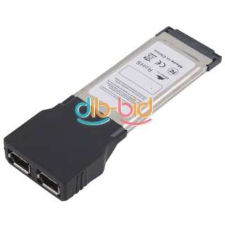 to 2 Port FireWire IEEE 1394A Express Expansion Card fr Laptop