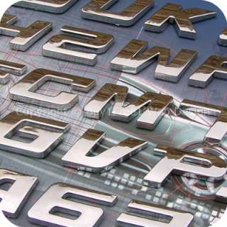 Universal Chrome Letter Alphabet 3D Car Badge Sticker Decal Emblem