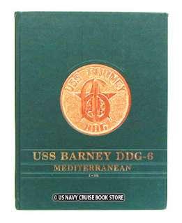 USS BARNEY DDG 6 MEDITERRANEAN CRUISE BOOK 1990