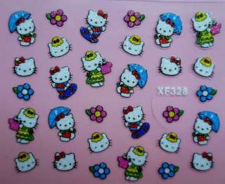KITTY 3D NAIL/DECAL/STICKERS~30 DESIGNS NEW CARTOON DESIGNS