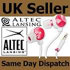 NEW ALTEC LANSING MZX236 BLISS RED WHITE IN EAR BUDS STEREO HEADPHONES