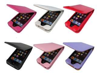 Leather Flip Case Cover Pouch Skin For iPod Touch 4 4G