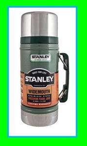 STANLEY Classic Wide Mouth 24 oz Stainless Bottle Canteen Thermos 10