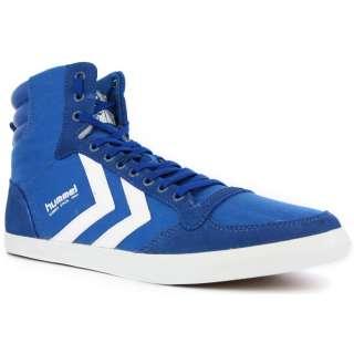 Hummel Stadil Slim Hi Royal Blue White Trainers Shoes