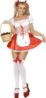 WOMENS CHERRY PLUCKER LADY FANCY DRESS COSTUME 2 SIZES