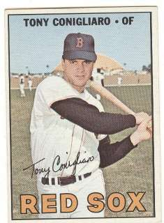 1967 Topps #280 Tony Conigliaro 1967 Boston Red Sox EX