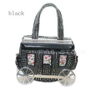 Fashion unique carriage shape handbag/purse*pink color