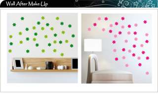 30 Flower Bedroom Kitchen Bathroom Wall Stickers, Decal