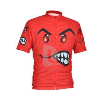 Funny Men Cycling Jersey Biking Shirt Bike Jerseys RED