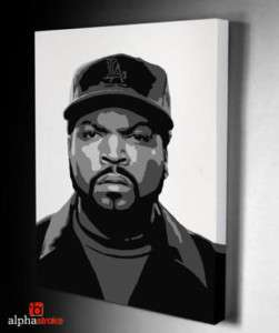 Ice Cube Painted Stencil Graffiti Art On Canvas
