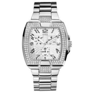 Silver Stainless Steel Quartz Watch with Silver Dial Guess Watches