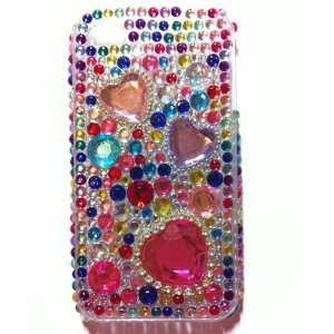 Colorful Heart Crystal Diamond Bling Rhinestone Protector