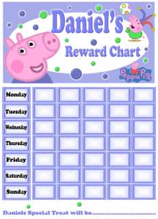 Personalised PEPPA PIG & George Reward / Potty training Chart