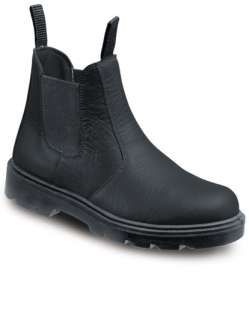 MENS STEEL TOE CAP, MIDSOLE DEALER CHELSEA SAFETY BOOTS