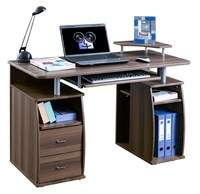 Computer Desk Home Office Table Beech PC Furniture New