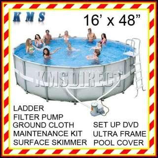 You Drop   16FT DIA x 48IN Deep Intex Ultra Frame Framed Swim Pool