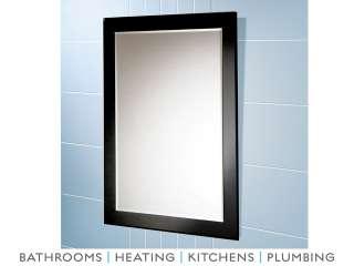 Hib Chess Bathroom Mirror with Black Glass Border