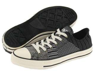 ALL STAR BLACK Polka Dot Stripes GREY Women 7/Men US 5/ 37.5 patchwork