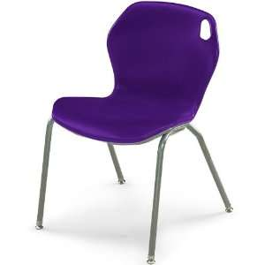 18H Intuit Stacking Chair with Powder Coat Frame   Purple Chair/Champ