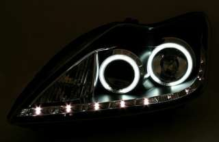 FARI ANTERIORI LED ANGEL EYES CCFL LED FORD FOCUS MK2 08   11