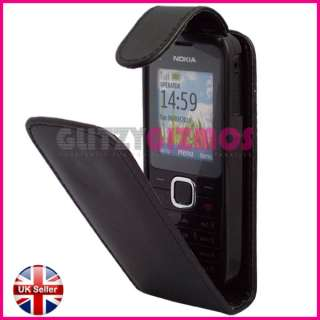 BLACK LEATHER POUCH CASE COVER FOR NOKIA C1 01 C1 01