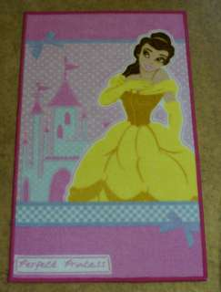 DISNEY PRINCESS BELLE RUG CARPET MAT NEW 44 X 70CM