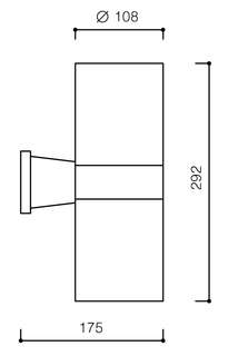 LAMPADA PARETE APPLIQUE A TUBO PER ESTERNO LDX00012AP