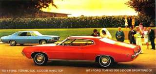 1971 FORD TORINO 500 ~ 2 AND 4 DOOR HARDTOP ~ MAGNET