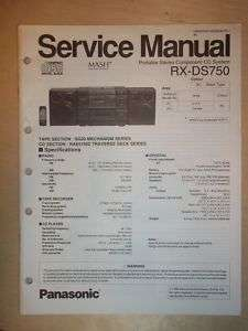 Panasonic Service Manual~RX DS750 CD/Radio/Boombox