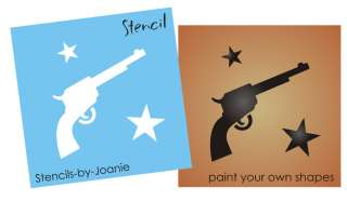 STENCIL Country Western Six Shooter Barn Star Cowboy Art Sign U Paint