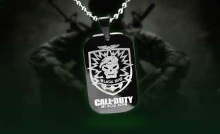 Call of Duty Modern Warfare BLACK OPS Symbol Dog Tag Mens Necklace