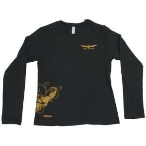 Joe Rocket Xl Black Womens Gold Wing L/S T: Everything