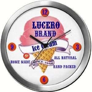 LUCERO 14 Inch Ice Cream Metal Clock Quartz Movement