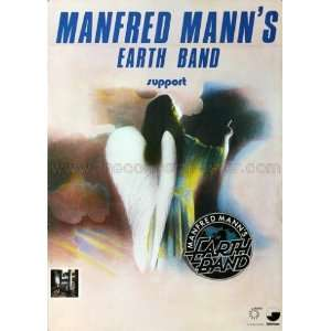 Manfred Manns Earth Band Angel Station 1979   CONCERT POSTER from