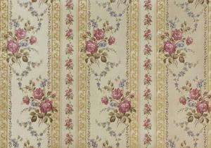 Victorian Silken Rose Gold Stripe Wallpaper Double Roll