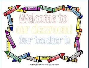 A4 Welcome Sign   Classroom/Teachers Printable Resource