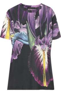 Christopher Kane Orchid print T shirt   60% Off Now at THE OUTNET