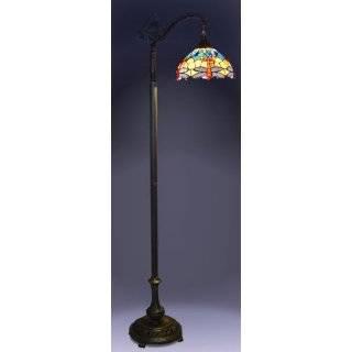 Tiffany Style Baroque Floor Bridge Lamp