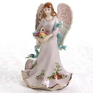 Royal Albert Lavender Rose Musical Angel Porcelain Statue