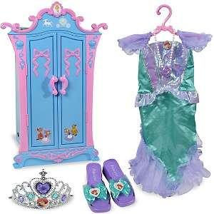 Disney Princess Cinderella Armoire and Ariel Dress Up Set
