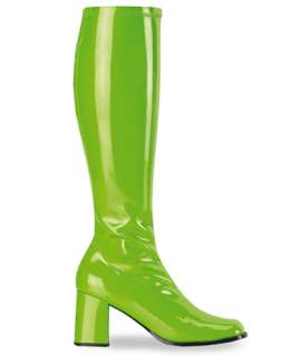 Hippie / Womens Lime Green GoGo Boots