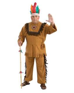 Native American Indian Warrior Adult Plus Costume  Plus Size Indians