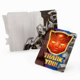 Costumes Transformers Revenge of the Fallen Thank You Cards (8 count